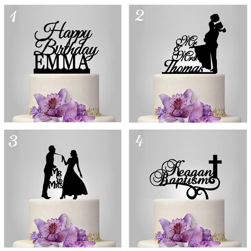 Last Name Wedding Themes: Wholesale Personalized MR MRS Wedding Cake Topper Acrylic
