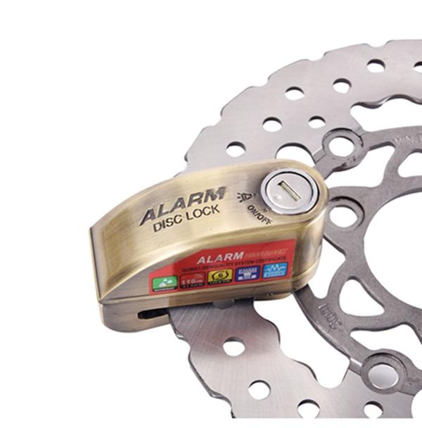 купить 110bd Motorbike Motorcycle Alarm Lock Bicycle Pit Bike Scooter Anti-theft Alarm Wheel Disc Brake Security Safety Siren Lock по цене 3297.88 рублей