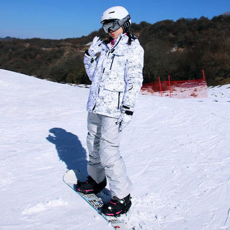 Mới Làm Dày Ấm Trượt Tuyết Phù Hợp Nam Nữ Mùa Đông Chống Gió Chống Thấm Nước Trượt Tuyết Găng Tay Gạt Mưa Áo Khoác Quần Phù Hợp Với Nam Plus Kích Thước 3XL
