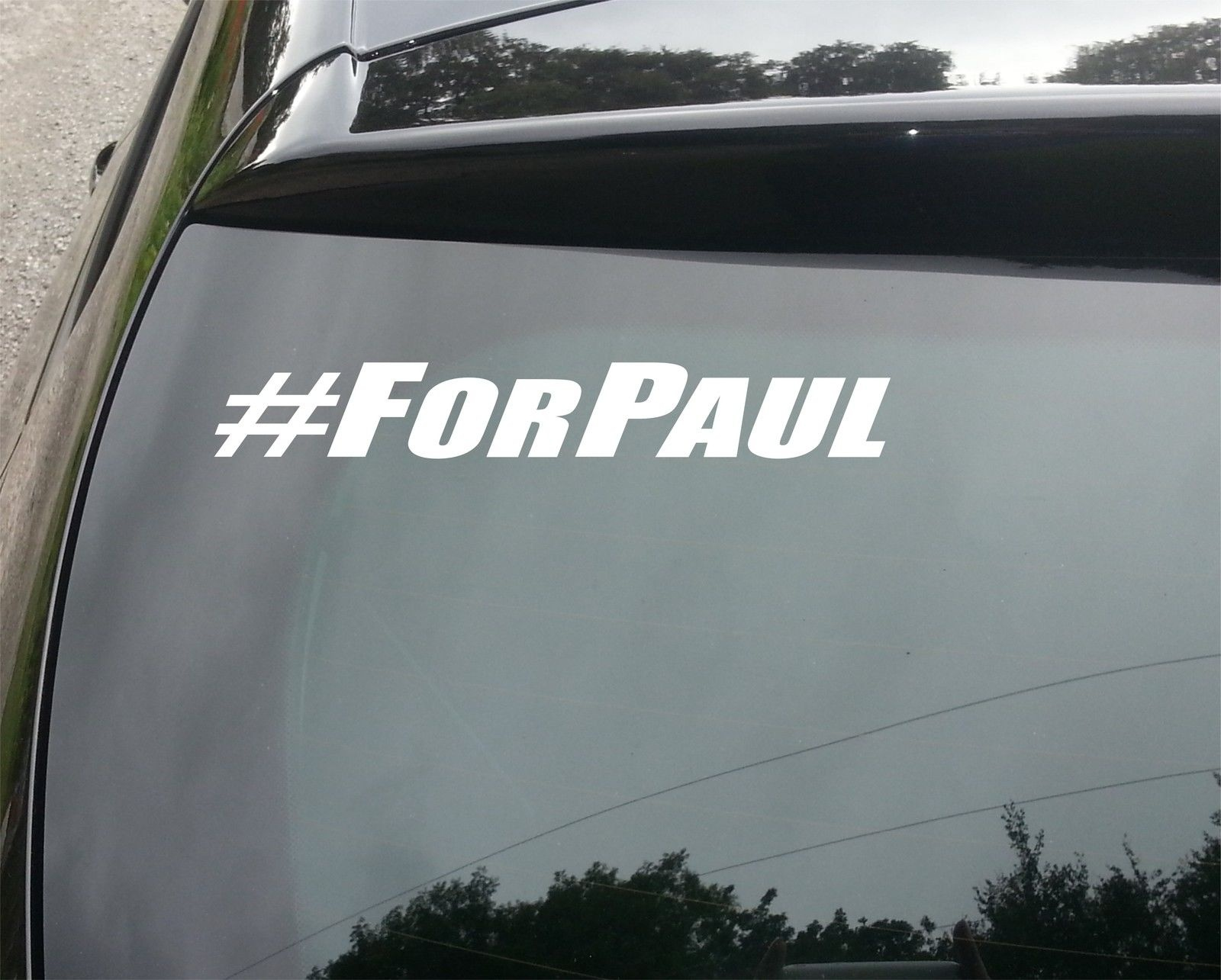 Car styling for 2xlarge paul walker for paul fast and furious vinyl decal sticker rest in peace