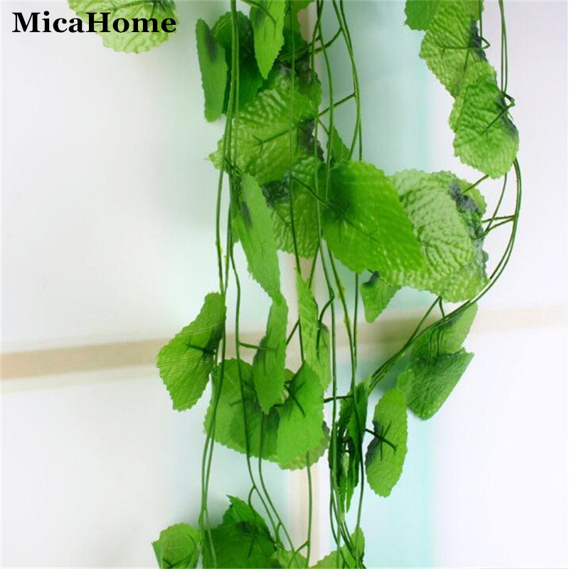 2.4 metro plantas artificiales hojas de vid de uva planta falsa injerto de hierb