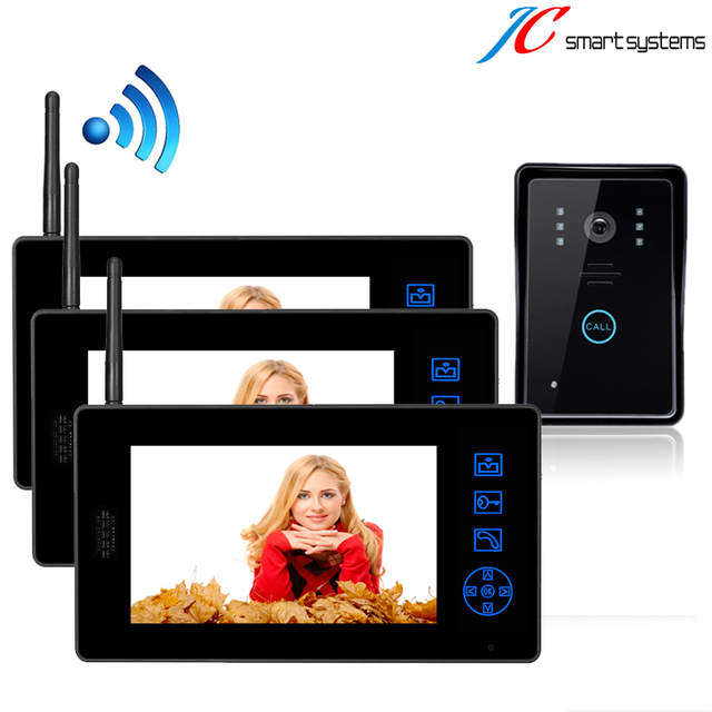 1v3 digital videoportero inalambrico wireless door video phone intercom system