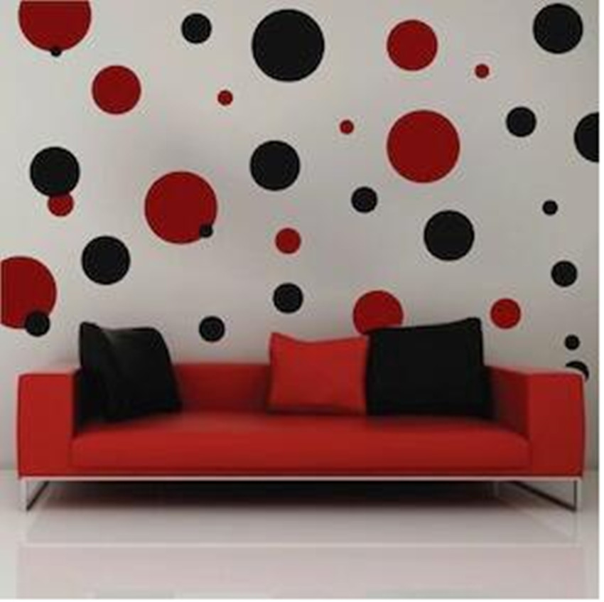 US $11.43 10% OFF|Polka Dots Wall Decals Wall Stickers bedroom Stickers  Room Decor Decal Removable Wallpaper-in Wall Stickers from Home & Garden on  ...