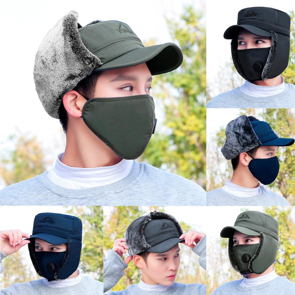 Logisch 2019 Neue Mode Winter Hut Einstellbar Männer Und Frauen Hüte Casual Unisex Warme Anti-smog Pilot Winter Ski Kappe Maske Sombrero # C Bekleidung Zubehör