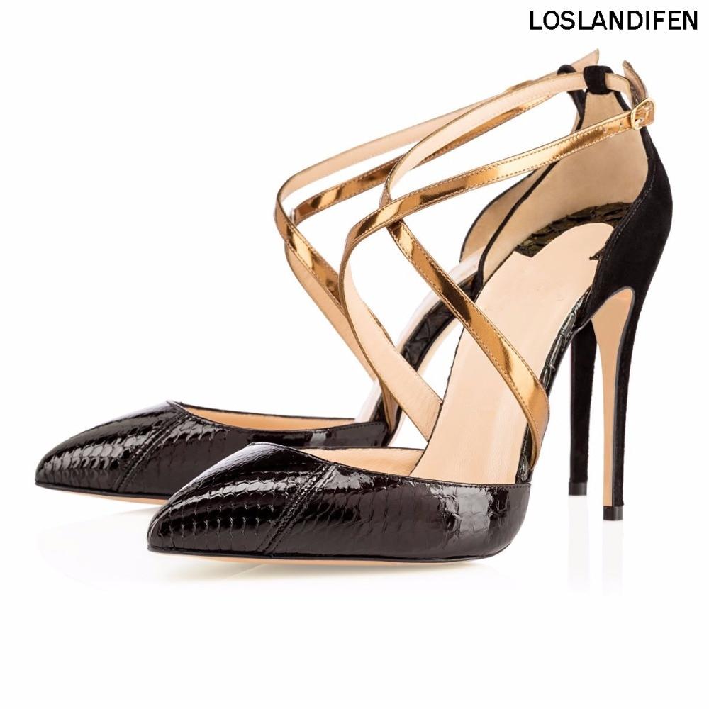 Correa Moda Alto Tobillo Partido Señoras Sandalias 2018 Hechas Cm A Zapatos Nuevos Productos Cke097 10 Vestido Mujeres Crisscroo Talón Mano 6F00Apw