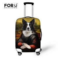 Fashion Animal Dog Print Luggage Protective Dust Covers Cute Luggage Case Cover For 18 30 Inch
