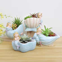 4pcs/set Creative Mermaid Storage Bowl Jewelry Candy Holder Flower Pot Home Garden Decor Multifunction Gifts for Kids - DISCOUNT ITEM  21% OFF Home & Garden
