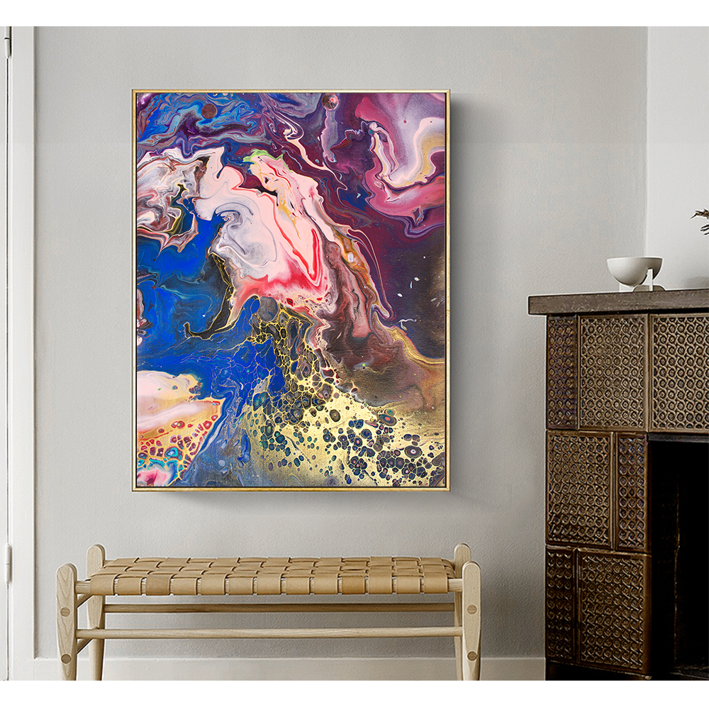 Us 439 56 56 Off Contemporary Colourful Abstract Art Paintings Red And Golden On Canvas Oil Painting Wall Art Living Room In Painting Calligraphy