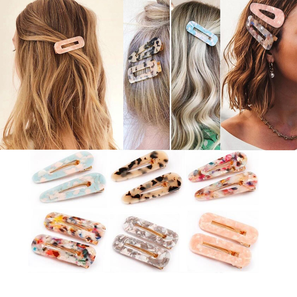 Japanese Style Hair Clips for Girls Water Drop Shape Duckbill Hairgrips Hair Pins Duckbill Leopard Clips Women Hair Styling(China)