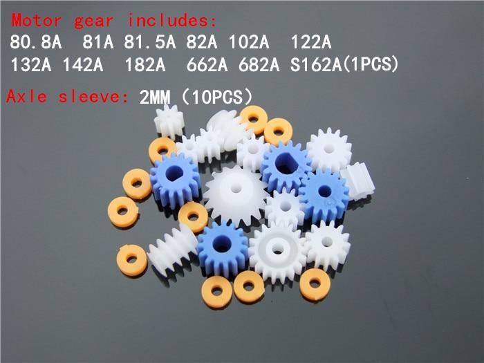 16 Pcs/lot Plastic Bearing Gear Set DIY Worm Gear Axle Gear Free Shipping Russia Bonus Axle Sleeve