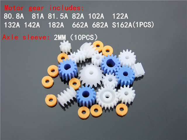 16 pcs/lot Plastic Bearing Gear Set DIY Worm Gear Axle Gear Free Shipping Russia Bonus Axle sleeve