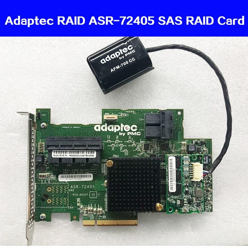 RAID ASR-72405 P/N: 2274900-R 6 Gb/s PCI-E 3.0X8 Controlador SAS Cartão Matriz de Cartão Original com Bateria