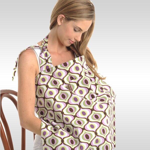 Уход за кожей ребенка для кормящих женщин мама медсестры носить с пакетом и подушечками хлопок груди-Накидки для кормления - Цвет: Coffee Circles