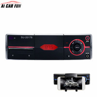 1 Din Car Radio Player Bluetooth Car MP3 Player FM Aux USB TF Auto Audio Built With Phone Holder Remote Control Autoradio