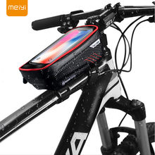 MEIYI Outdoor Waterproof Bike Motorcycle Mobile Phone Holder Stand Mount for iPhone XS Max XR X 8 7 6S Touch Screen Bicycle Bag