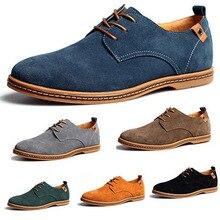 2016 Nouveau Mode Hommes Chaussures En Daim En Cuir Véritable Mocassins Bas appartements Chaussures Casual Chaussures Oxford Chaussures Pour Hommes Plus La Taille 45,46, 47,48
