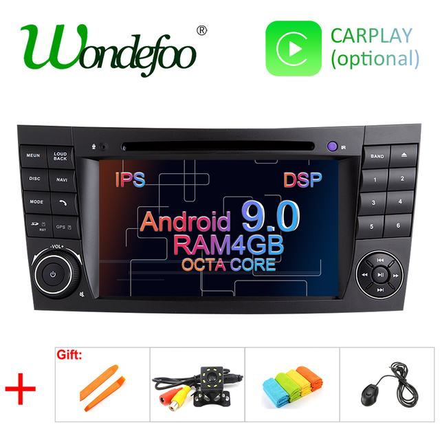 DSP IPS 4G Android 9.0 2 din car DVD player For Mercedes Benz E-class W211 E200 E220 E300 E350 E240 E270 E280 CLS CLASS W219
