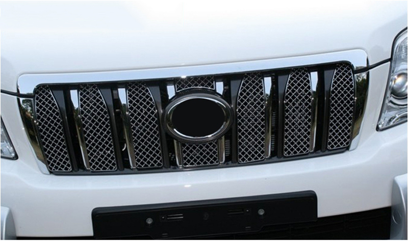 MONTFORD Stainless Steel Front Grille Decoration Cover Trims 6Pcs/set For Toyota Cruiser Prado FJ150 FJ 150 2010 211 2012 2013