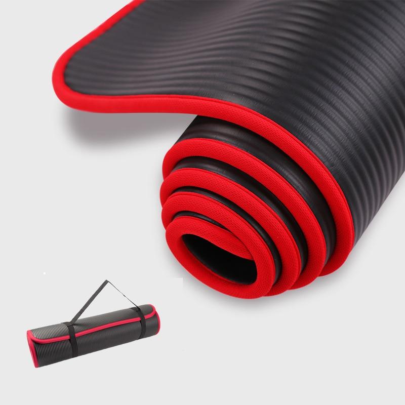 183 cm X 61 cm antideslizante esteras de Yoga Fitness para insípido Pilates gimnasio ejercicio Fitness deportes almohadillas con vendas HW472