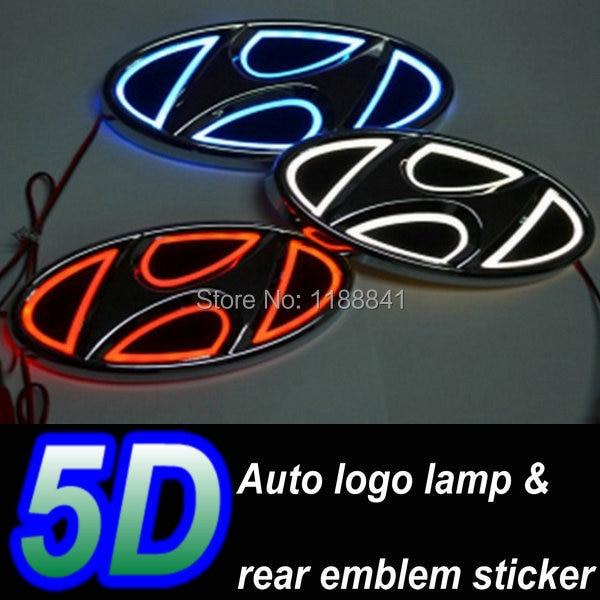 Nieuwe 5d Led Auto Logo Licht Voor Hyundai Accent Sonata X35 Auto