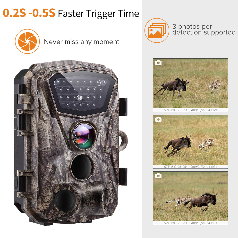 Image 2 - BOBLOV H883 18MP 1080P 120 Degree PIR Lens Hunting Trail Camera 24 Infrared LEDs Scouting Wildlife Night Vision Cameras-in Hunting Cameras from Sports & Entertainment