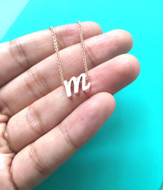 a b c d e f g h i j k l m n o p q r s t u v w x y z Custom Letter Necklace Women Personalized Choker Stainless Steel Jewelry