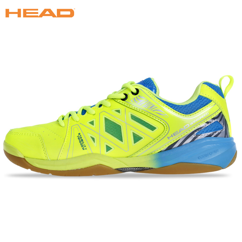 HEAD Top Quality Professional Badminton Shoes For Men Light Weight Sneakers Boots Brand Sport Shoes Green Blue Badminton Shoes top quality men s badminton shoes breathable sport shoes brand sneakers table tennis shoes badminton shoes for men size 35 44