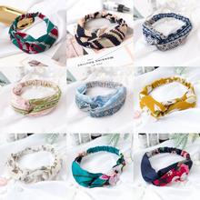 Fashion Women  Headband Vintage Cross Knot Elastic Hair Bands Soft Solid Girls Hairband Accessories