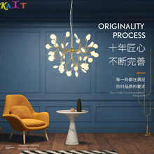 KAIT Branch Firefly Chandeliers Nordic Led Lustre Chandelier For Living Room Butterfly Hanging Pendent Lamp
