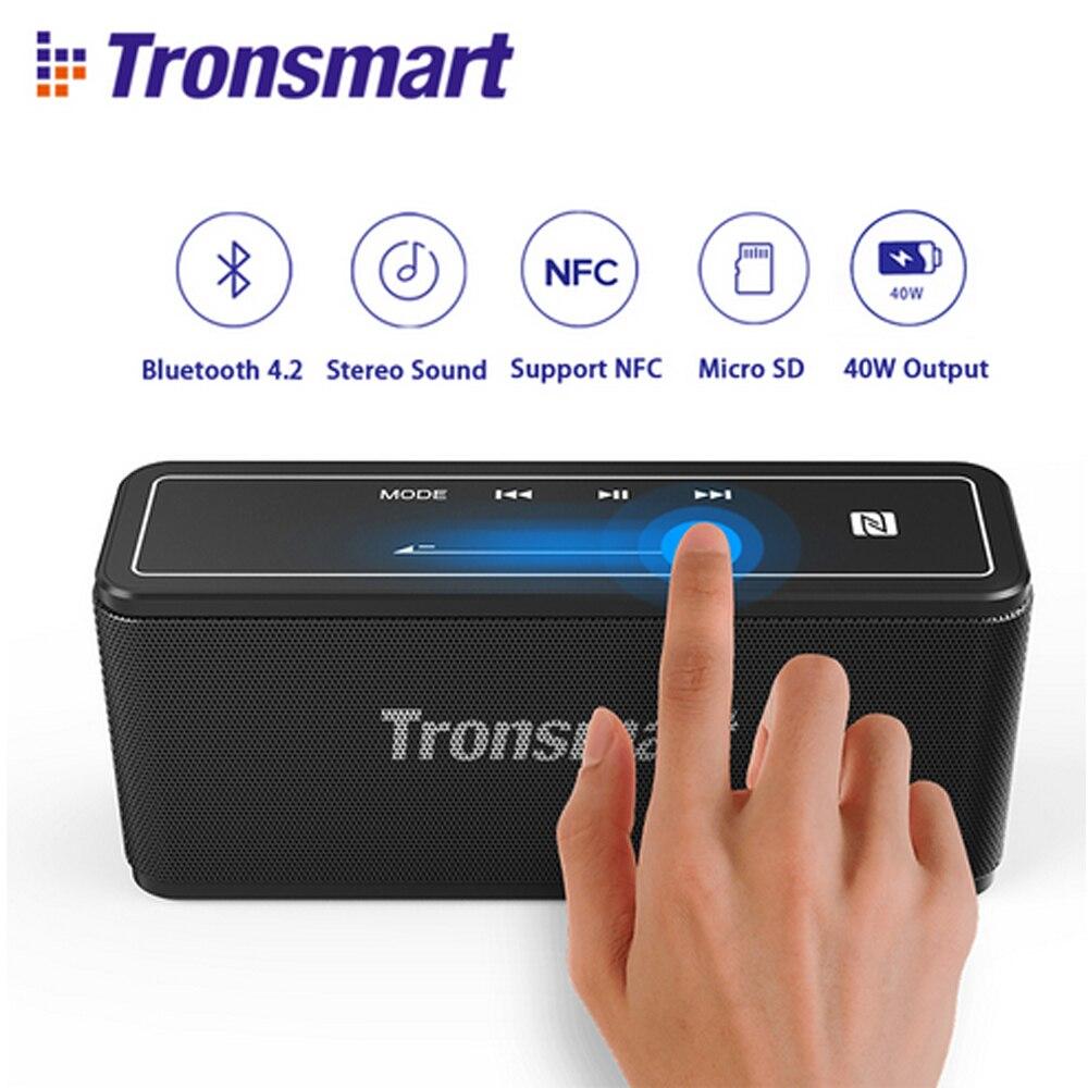 $3 coupon Tronsmart Élément Mega Bluetooth Haut-Parleur Extérieur Portable Sans Fil Haut-parleurs Digital Sound 40 w Sortie pour Xiaomi Téléphone