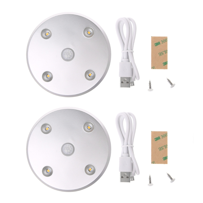 4LED Motion Sensor Wardrobe Light magnetic fixation Porch Loft LED Night Light ...