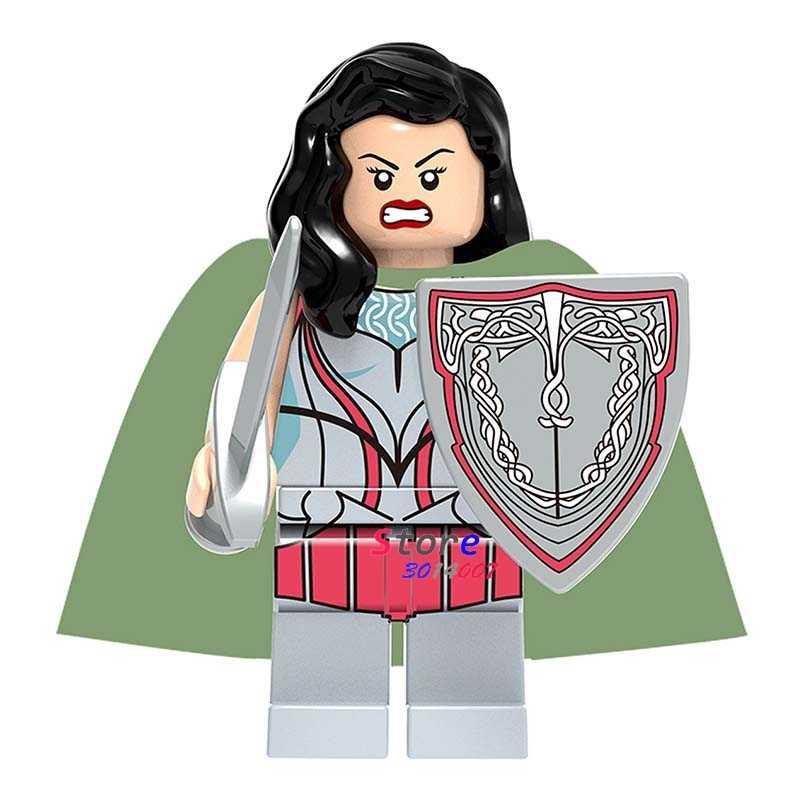 Singolo super eroi marvel dc comics blocchi di costruzione di modelli di mattoni Thor Ragnarok Lady Sif Asgard giocattoli per i kit per bambini