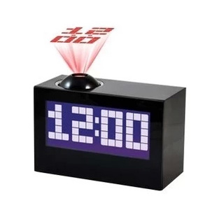 free shipping led big screen fashion luminous alarm clock projection clock calendar belt thermometer clock