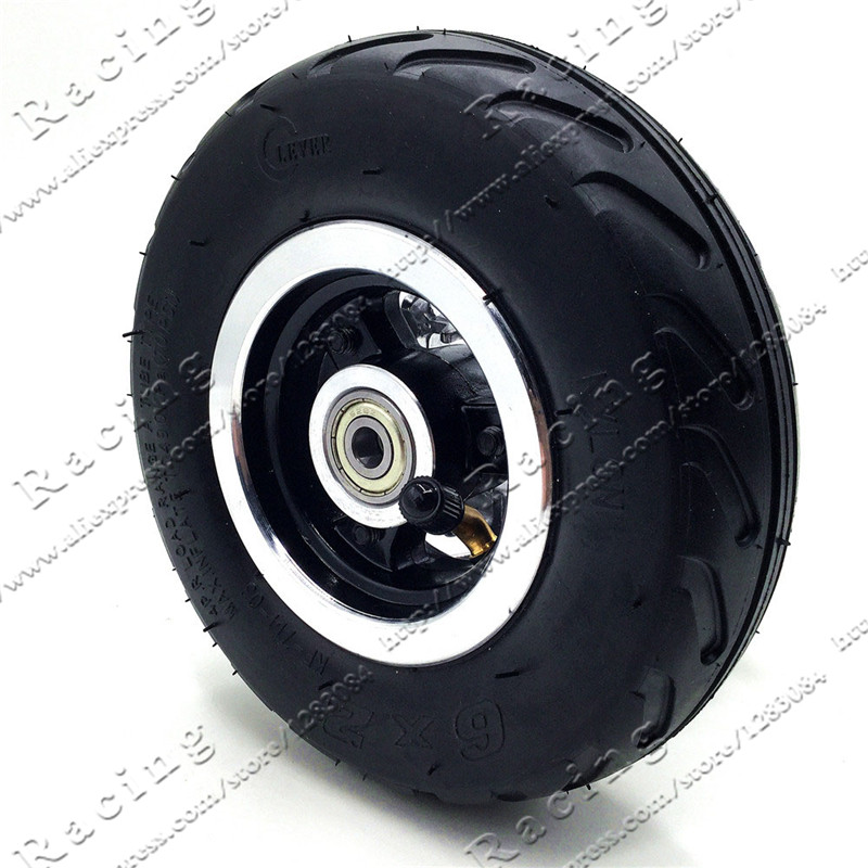 6 inch 6X2 Wheels set Tire with Inner Tube Fit for Electric Scooter Wheel Chair Truck 6 Tire Tyre F0 Pneumatic Trolley Cart