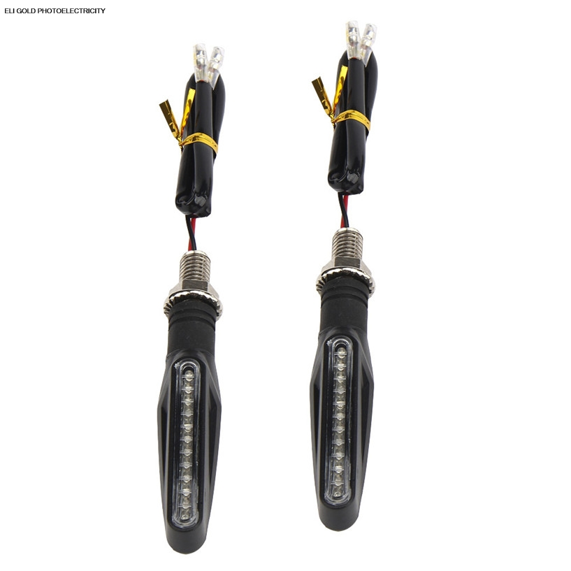 77 car shopping Store 2PCS Motorcycle 12 LED Turn Signal Indicator Blinkers Light Amber motorcycle turn signal