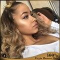 7A Completa Pelucas Del Pelo Humano para Las Mujeres Negras Glueless Pelucas del cordón Virginal del Pelo de la Onda de Agua Del Frente Del Cordón Del Pelo Humano pelucas