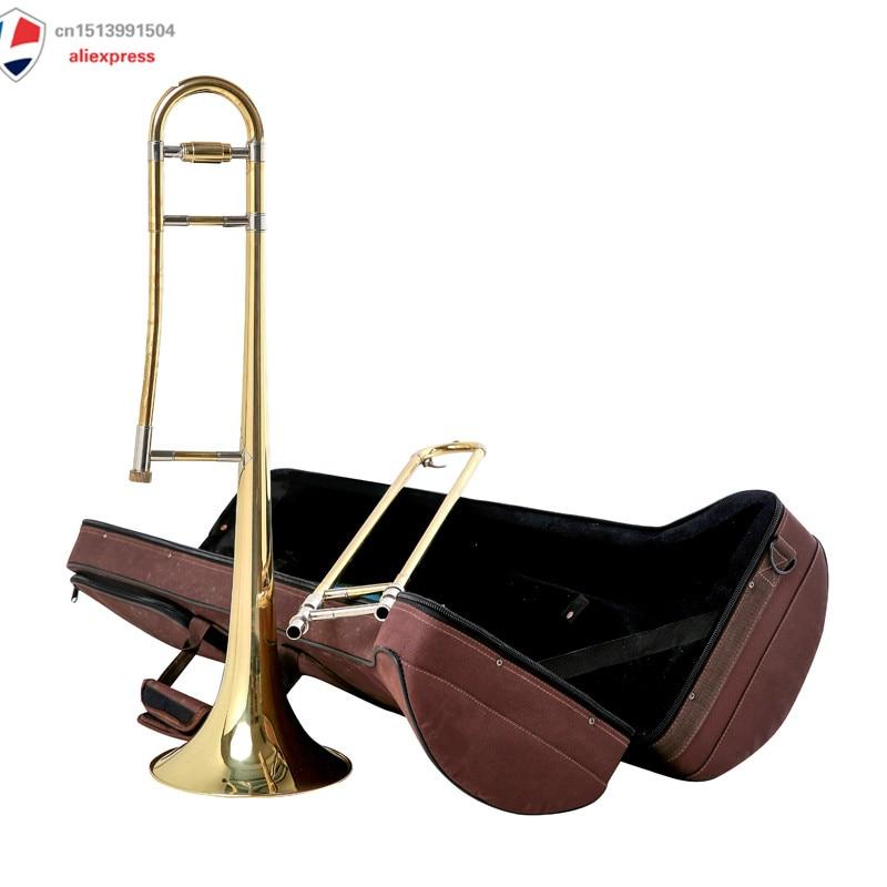 Le trombone de milieu de gamme est le tube du tube en laiton