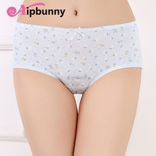 Lingerie Seamless Panties sexy Womens Briefs Elastic 100% Cotton Bow Knickers Printed Girl female Underwear