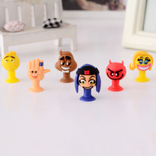 6pcs/lot good Cupule kids Cartoon Animal Action Figures toys Sucker Mini Suction Cup Collector Capsule model