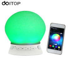 DOITOP for Bluetooth Wireless LED Bulb Speaker Colorful Music Playing Mini Dimmable LED Bulb Light Speaker APP Remote Control A3