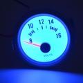 2 Incn (52mm) 12 v tensão Carro motocicleta azul do escudo branco backlight Leia 8-16 V auto volt bitola métrica Frete grátis