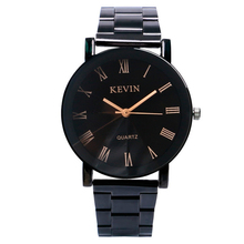 KEVIN Round Dial Sport Exquisite Women Analog Simple Modern Black Stainless Steel Band Strap Fashion Wrist Watch