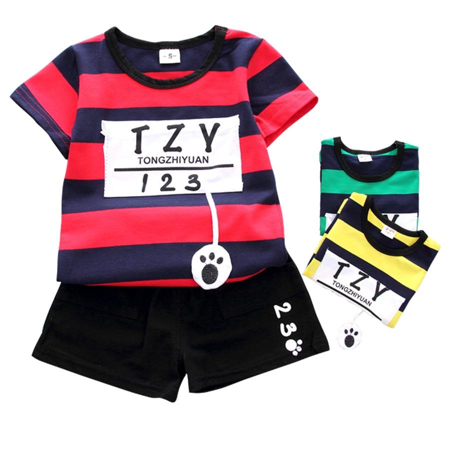 a65b82d505cae Enfant en bas âge Enfant Bébé Garçon D été Tenues Vêtements Bébé ...