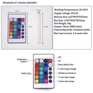 Image 5 - Contrôleur à distance RGB, 24 touches, LED DC12V IR, pour SMD 3528, 5050, RGB, LED