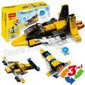 62 unids 3in1 2016 creador mini skyflyer super racer car diy bloques de construcción de ladrillos de juguetes conjunto regalos compatible con lego