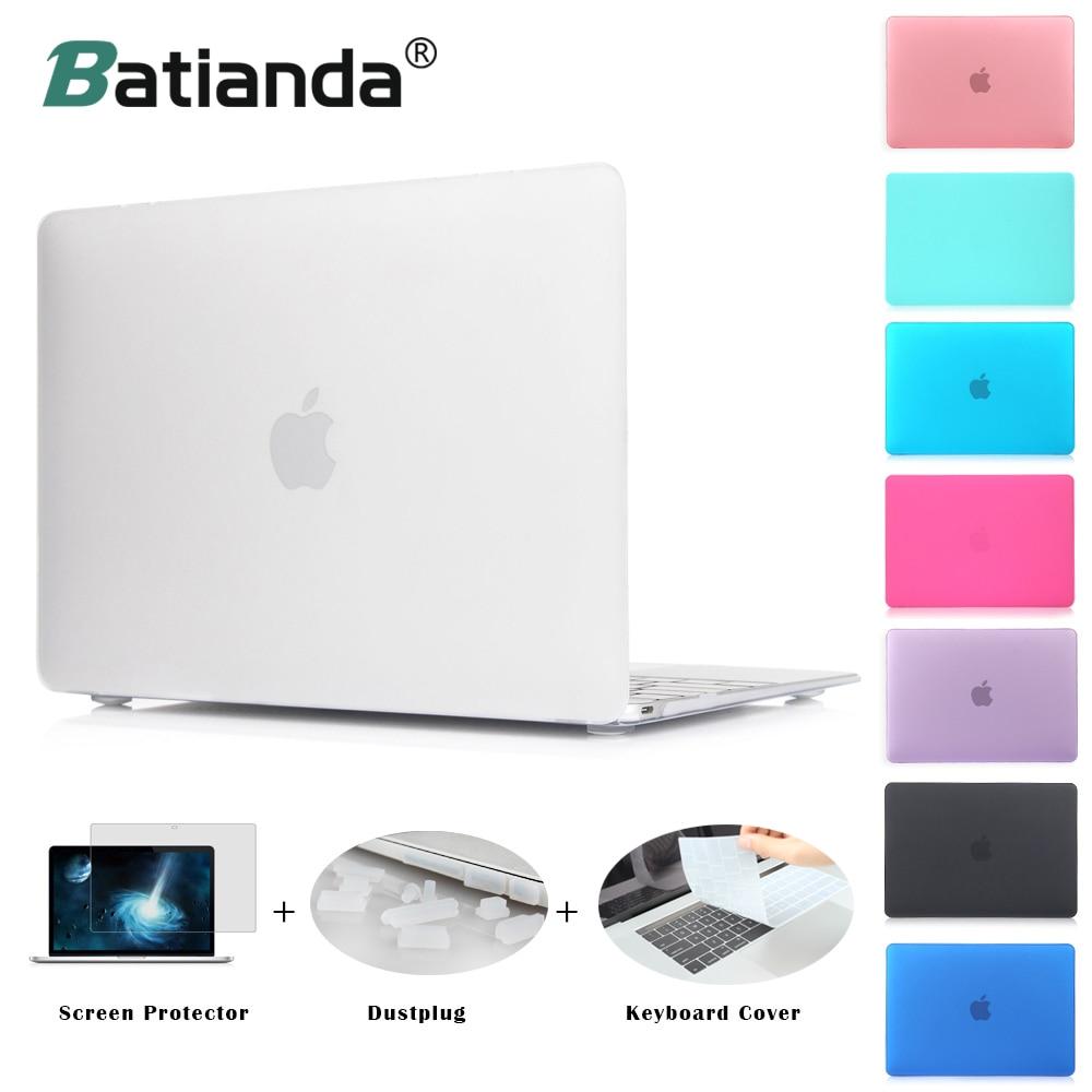 Caso mate nuevo aire 11 13 Pro 13 15 Touch bar 2016 2017 modelo nuevo Retina 12 13 15'' para macbook cubierta del Teclado + Protector de pantalla