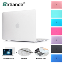 Matte Case New Air 11 13 Pro 13 15 Touch bar 2016 2017 Model New Retina 12 13 15» for macbook Keyboard Cover+Screen Protector