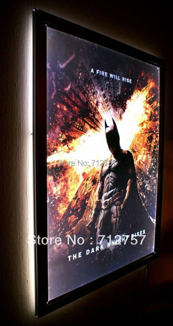 Led Illuminated Aluminum Snap Frame Movie Poster Display