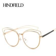 HINDFIELD Модные металлические зеркальные для Оптический модная оправа для очков дизайнерские очки оправы для очков Для женщин прозрачные очки для работы за компьютером
