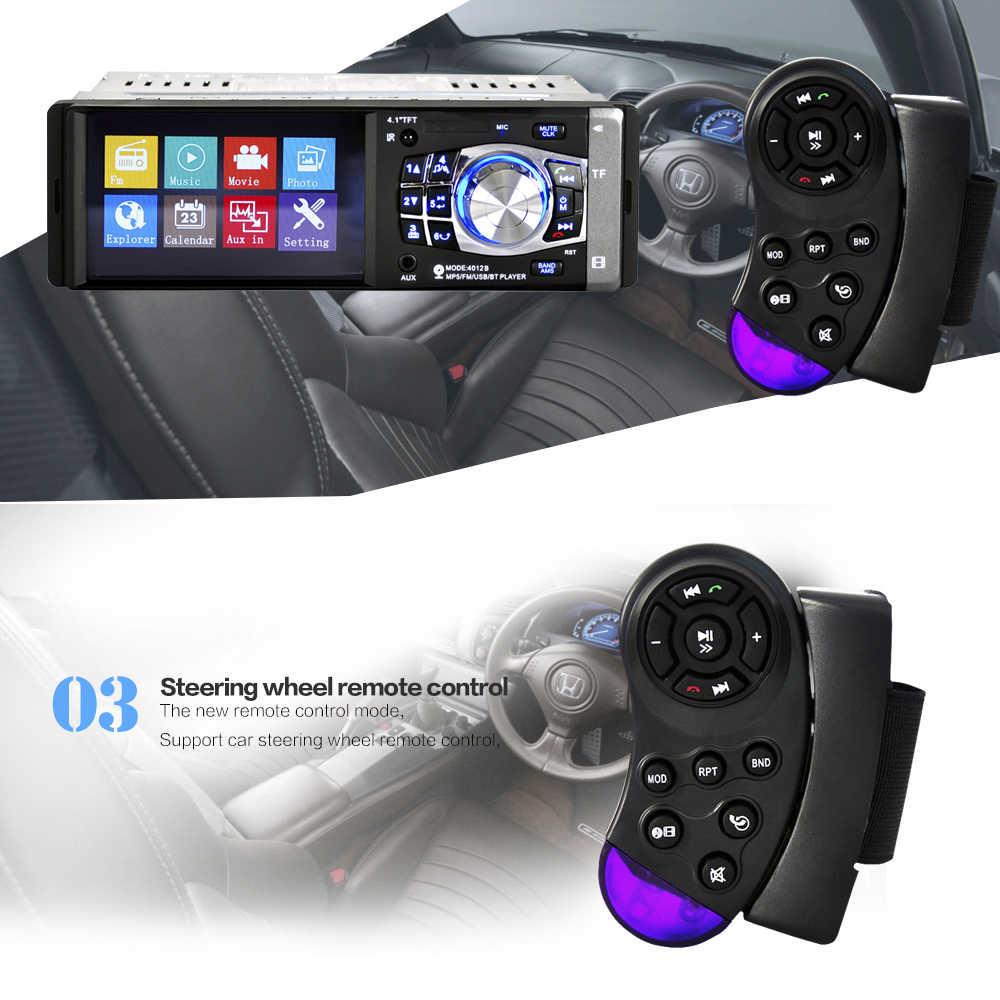 Autoradio 1 Din Radio de coche reproductor MP5 audio estéreo automático FM BT 2,0 con cámara de visión trasera Control remoto de volante USB